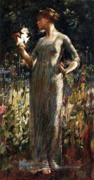 A Kings Daughter aka Girl with Lilies John White Alexander Oil Paintings