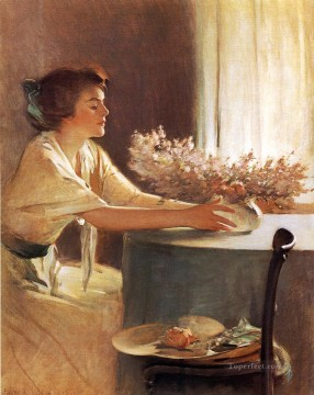 john painting - A Meadow Flower John White Alexander