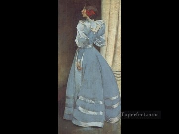 Portrait Painting - Gray Portrait John White Alexander