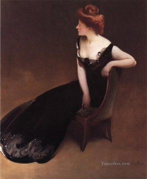 Portrait Painting - Portrait of Mrs V Mrs Herman Duryea John White Alexander