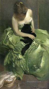 Artworks by 350 Famous Artists Painting - The Green Dress John White Alexander