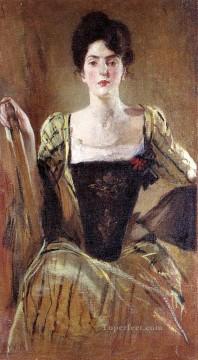 Artworks by 350 Famous Artists Painting - The Green Gown John White Alexander