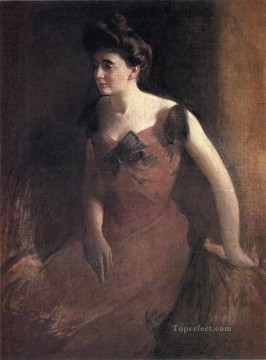 Woman Painting - Woman in a Red Dress John White Alexander