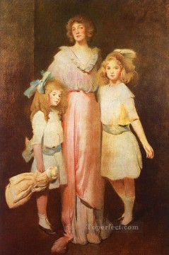 Mrs Daniels with Two Children John White Alexander Oil Paintings