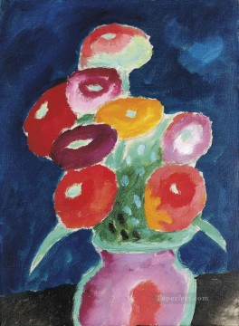 Artworks by 350 Famous Artists Painting - blumen in einer vase 1918 Alexej von Jawlensky