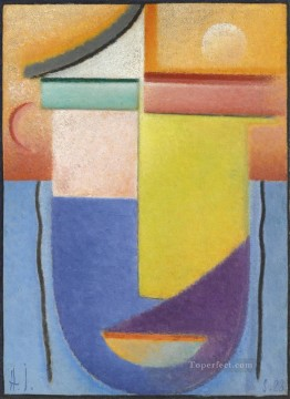 Artworks by 350 Famous Artists Painting - ABSTRACT HEAD WATER AND LIGHT Alexej von Jawlensky