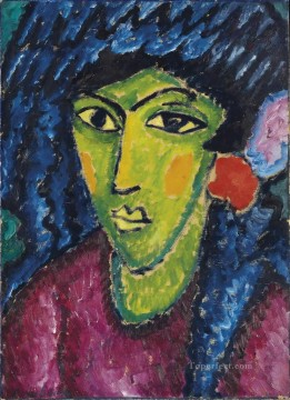 Artworks by 350 Famous Artists Painting - Blue Shawl Alexej von Jawlensky