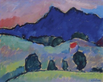 Artworks by 350 Famous Artists Painting - Blue mountain Alexej von Jawlensky