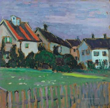 Artworks by 350 Famous Artists Painting - HOUSES WITH FRONT GARDENS Alexej von Jawlensky
