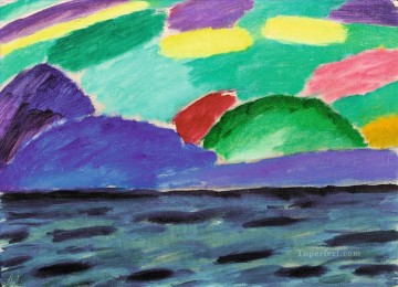 Artworks by 350 Famous Artists Painting - LAKE GENEVA WITH BLUE MOUNTAIN Alexej von Jawlensky