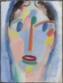 Mystical head in blue Alexej von Jawlensky