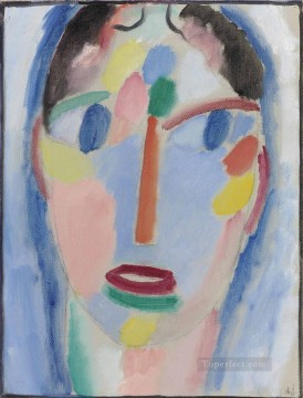Mystical head in blue Alexej von Jawlensky Oil Paintings
