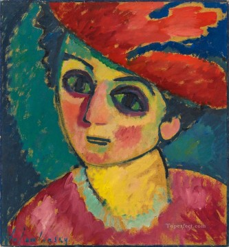 Artworks by 350 Famous Artists Painting - RED HAT Alexej von Jawlensky