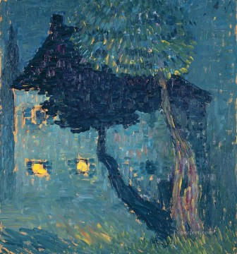 Artworks by 350 Famous Artists Painting - cottage in the woods 1903 Alexej von Jawlensky