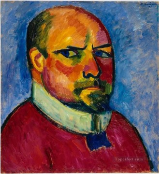 Artworks by 350 Famous Artists Painting - head of a man Alexej von Jawlensky