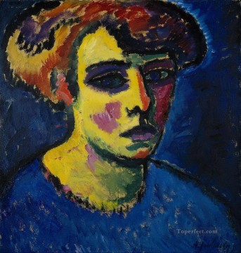 head of a woman 1911 Alexej von Jawlensky Oil Paintings