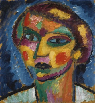 Artworks by 350 Famous Artists Painting - head of a woman Alexej von Jawlensky