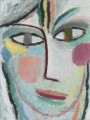 head of a woman femina 1922 Alexej von Jawlensky