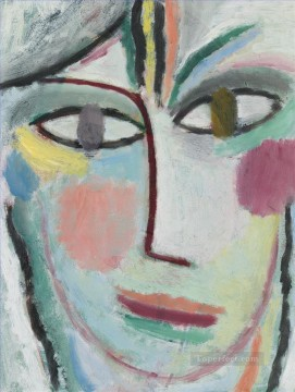 Artworks by 350 Famous Artists Painting - head of a woman femina 1922 Alexej von Jawlensky