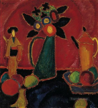Artworks by 350 Famous Artists Painting - japanese flower 1913 Alexej von Jawlensky