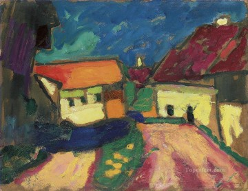 Artworks by 350 Famous Artists Painting - landscape study dorfstrasse Alexej von Jawlensky