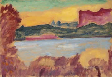 Artworks by 350 Famous Artists Painting - landschaft genfer see 1915 Alexej von Jawlensky