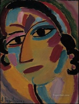 Artworks by 350 Famous Artists Painting - mystical head 1917 Alexej von Jawlensky