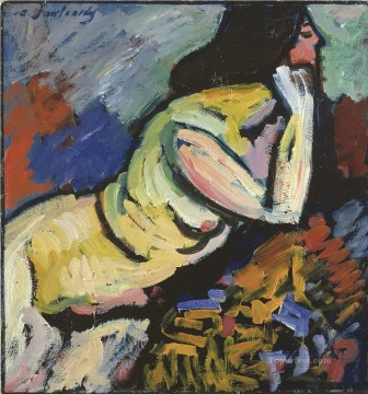 nude 1912 Alexej von Jawlensky Oil Paintings