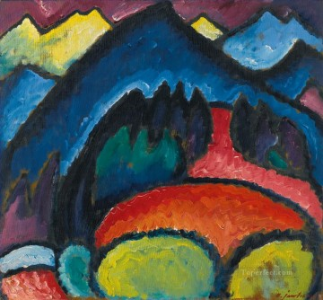 Artworks by 350 Famous Artists Painting - oberstdorf mountains 1912 Alexej von Jawlensky