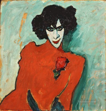 Artworks by 350 Famous Artists Painting - portrait of alexander sakharoff 1909 Alexej von Jawlensky