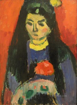 Artworks by 350 Famous Artists Painting - red blossom 1910 Alexej von Jawlensky