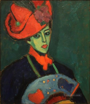 Artworks by 350 Famous Artists Painting - schokko with red hat 1909 Alexej von Jawlensky