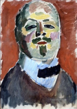 Artworks by 350 Famous Artists Painting - self portrait 1905 Alexej von Jawlensky