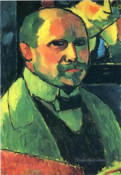 Artworks by 350 Famous Artists Painting - self portrait 1912 Alexej von Jawlensky