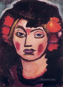 Artworks by 350 Famous Artists Painting - spanish girl 1912 Alexej von Jawlensky