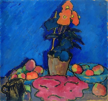 Artworks by 350 Famous Artists Painting - still life with begonia 1911 Alexej von Jawlensky