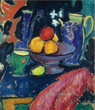 Artworks by 350 Famous Artists Painting - still life with jug 1913 Alexej von Jawlensky