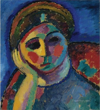 Artworks by 350 Famous Artists Painting - the thinking woman 1912 Alexej von Jawlensky