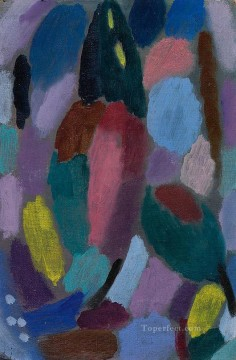 Artworks by 350 Famous Artists Painting - variation field of tulips 1916 Alexej von Jawlensky