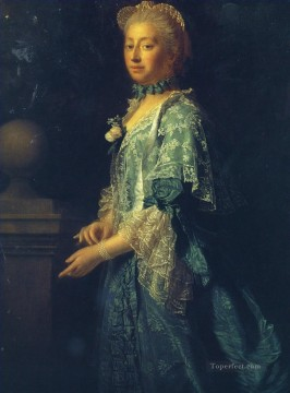 wales Art Painting - portrait of augusta of saxe gotha princess of wales 1 Allan Ramsay Portraiture Classicism