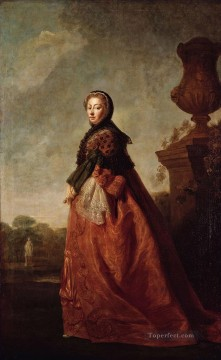 portrait Painting - portrait of augusta of saxe gotha princess of wales Allan Ramsay Portraiture Classicism