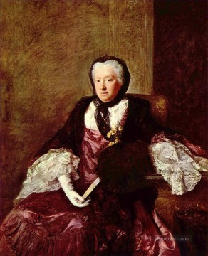 Allan Ramsay Painting - portrait of mary atkins mrs martin Allan Ramsay Portraiture Classicism