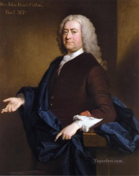 classicism Painting - portrait of sir john hynde cotton 3rd bt Allan Ramsay Portraiture Classicism