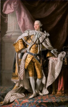 King George III in coronation robes Allan Ramsay Portraiture Classicism Oil Paintings