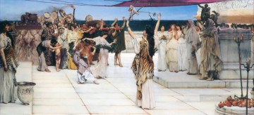 romantic romantism Painting - A Dedication to Bacchus Romantic Sir Lawrence Alma Tadema