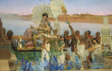 1904 Painting - The Finding of Moses 1904 Romantic Sir Lawrence Alma Tadema