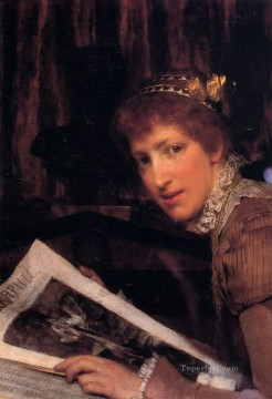Lawrence Canvas - Interrupted Romantic Sir Lawrence Alma Tadema
