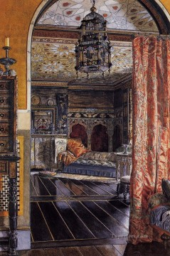 drawing Oil Painting - The Drawing Room at Townshend House Romantic Sir Lawrence Alma Tadema