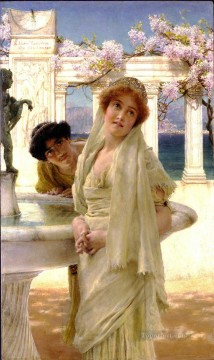 A Difference of Opinion Romantic Sir Lawrence Alma Tadema Oil Paintings