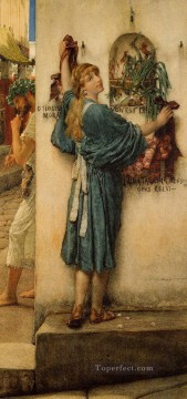 Lawrence Canvas - A Street Altar Romantic Sir Lawrence Alma Tadema